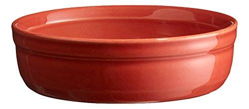 Emile Henry Eh321013 Moule à Crème Brûlée Céramique Orange Brique 13 X 13 X 3,5 cm