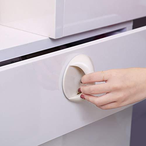 Ronde Auto-adhésives Armoire à tiroirs Poignée Helper auxiliaire d'armoires de Cuisine Porte Poignée de fenêtre Garde de sécurité