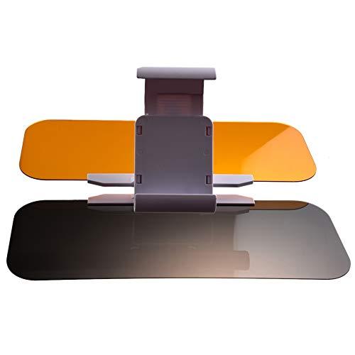 LHAO Auto-Blendschutz 2 in 1 Augenschutz HD Windschutzscheiben-Extender Universal-Sonnenschutzbrillen Tag und Nachtsicht Anti-Dazzle für Universal
