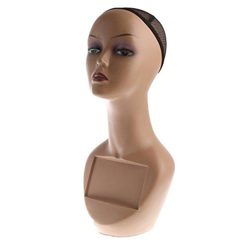 Gazechimp Weibliche Schaufenster Dekokopf Mannequin Modellkopf Schaufensterpuppe - Hüte Mütze Brille Display Ständer Halter Kopf, Perückenhalter, Perückenständer