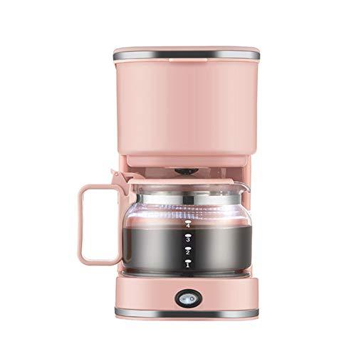 DIDIOI 4-Cup-Schalter Kaffeemaschine, Tragbare Kaffeemaschine, 750Ml Automatische Amerikanische Drip Kaffeemaschine Automatische Abschaltung Kaffeemaschine 220V,Rosa