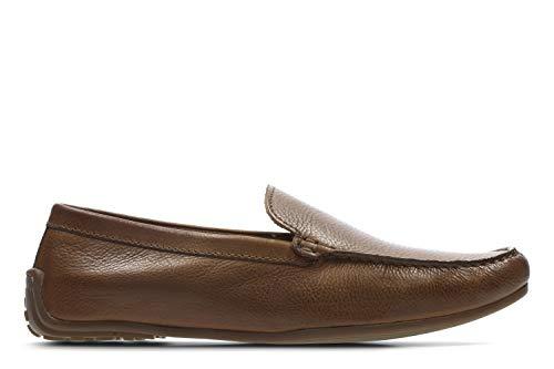 Clarks Reazor Edge, Mocassini Uomo, Marrone (Tan Leather-), 43 EU