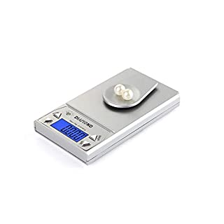 CHENG Pocket Scale Mini Protable Multifunction Back-Lit LCD Display Digital Scale,Gray,20G\0.01G