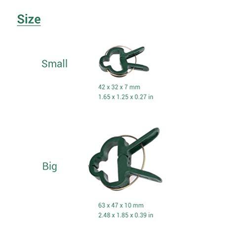 Ysoom 20 STK (2 Größen) Pflanzen Clips Pflanzenklammern Ideal für Pflanzen Sicherung Unterstützt Einzupflanzen – Stabile Klammern für Kletterpflanzen Befestigung