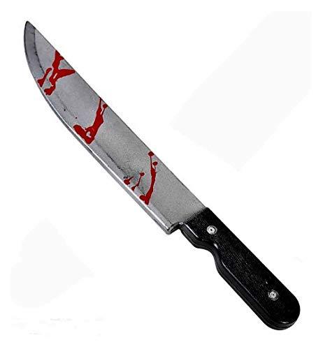 KarnevalsTeufel Messer mit Blut, ca. 50cm, Gruselig, blutiges Horror-Messer, Halloween
