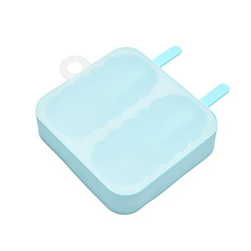 BESTONZON Eisförmchen Pop Eisförmchen Silikon Lolly Maker 2Gitter (Blau)