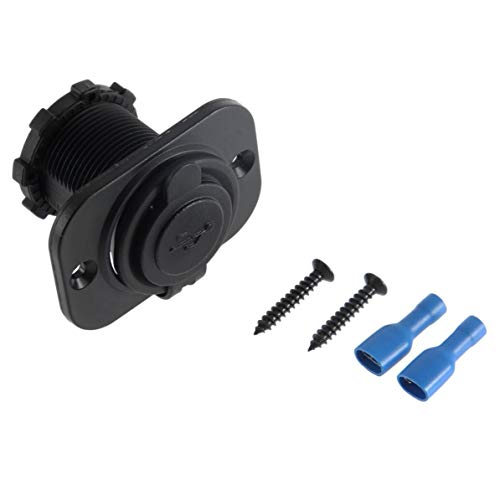Preisvergleich Produktbild WEIWEITOE Schwarz Durable 12 V Dual USB Auto Motorrad Zigarettenanzünder Splitter Power Adapter Steckdose Power Ladegerät Schwarz
