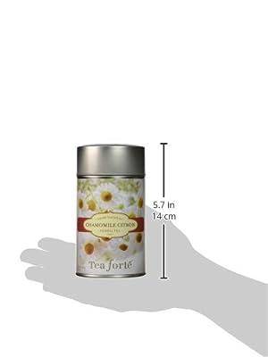 Tea Forte Organic Chamomile Citron - Infusion bio en vrac- 50 g by Tea Forté