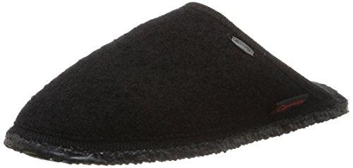 Giesswein - Tino, Pantofole unisex, Nero (022 / schwarz), 45