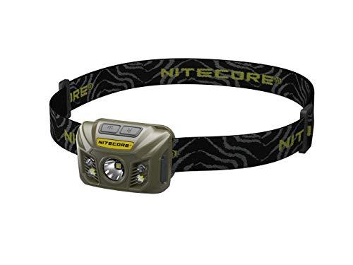 Nitecore NU30 oliv - Stirnlampe 400 Lumen, Weißlicht, Rotlicht, USB ladbar