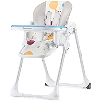 EBTOOLS Baby High Chair,3 in 1 Folding High Chair Soft Deck Chair Adjustable Baby Highchair Feeding Chair 6 Height Adjustable Backrest 3 Positions with Seat Belt,43.31/×29.92/×22.44inch Green