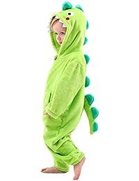 Disfraz Dinosaurio/Dragón/Tiburón Niño, Mameluco con Capucha para Niños, Pijama De Franela, Cumpleaños