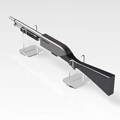 Plexiko Gewehr-/Musketen-Ständer, Ausstellungsständer, Waffenständer, farblos, H - 180mm