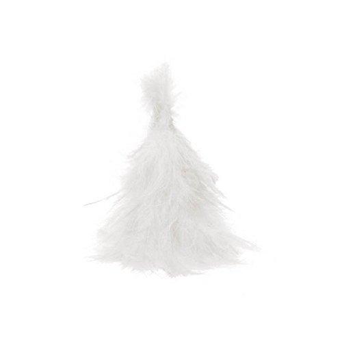 Ck - Sapin en Plumes Blanc 15cm