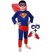 Baby & Sons Superhero Costume for kids Spider Boy | Super Boy | Bat Boy | Flash Boy Fancy Dress Costumes (2-4 Years…