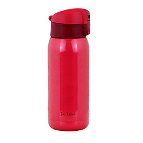 Kaffeetassen Reizender Reise-Becher, Kaffeetassen/Becherflasche/doppelwandiger Edelstahl-Isoliervakuum mit Deckel für Reise heißes/kaltes Drinkware Teetassen (Color : A, Size : 180ML)