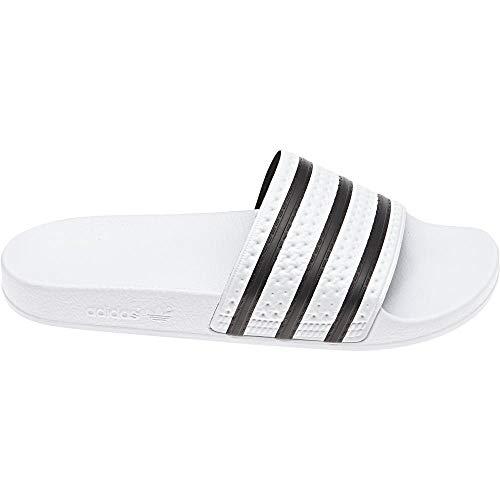 adidas Unisex-Erwachsene Originals ADILETTE Bade Sandalen - Weiß (WHITE/CBLACK/WHITE),EU 37