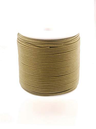 Creative-Beads Baumwollschnur gewachst 1.5mm 100m Rolle dkl.khaki, zum basteln, selber machen, dekorieren, Schmuck Anhänger anbringen -