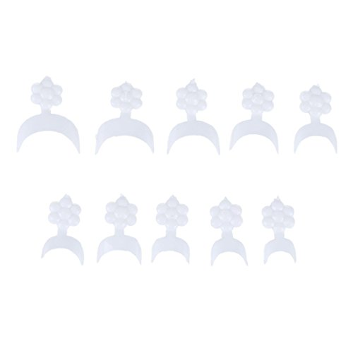 TOOGOO(R) 500 Conseils Capsule Ongle francais Ultra Fine Acrylique Gel UV Nail Art Deco Manucure Blanc