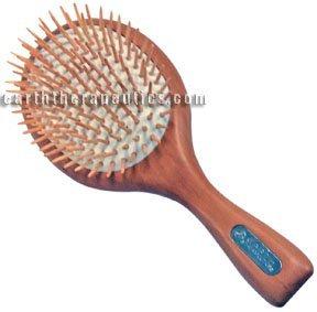 Terre Therapeutics Life + Pin brosse de massage grandes brosses - cheveux en bois style naturel 219913