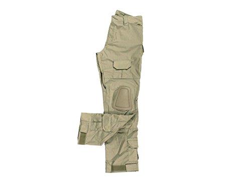 BEGADI Basics Combat Pants   Hose, mit 10 Taschen   abnehmbaren  Knieschonern - khaki   7ae3b4177d