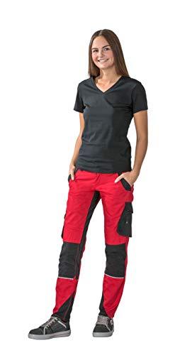 Planam Norit Damen Bundhose, Farbe: Rot/Schwarz, Größe: 38