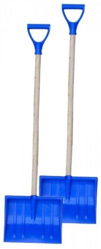 Pro 2 St. Kinder - Schneeschieber m. Griff 25x20 cm blau