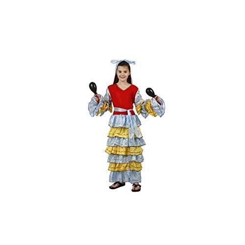Schwan 2013, S.L. 2-Teiliges Kinder-Kostüm für Karneval Mädchen aus Brasilien Samba Größe 7-9 Jahre Junge und Mädchen Cosplay Mädchen Karneval (Brasilien Kostüm Für Mädchen)