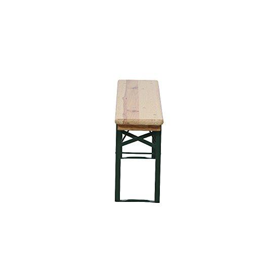 H.G. 944828 Festzeltgarnitur ohne Rücken 3-teilig, 110 x 50 cm -