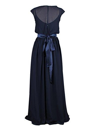 Dressystar Robe femme, Robe de soirée/ Cérémonie longue, simple, en Mousseline Menthe