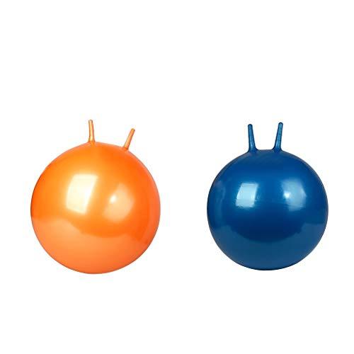 T TOOYFUL 2pcs Aufblasbarer Hüpfball Gummiball Springball Hopsball mit Griff für Kinder/Erwachsene, Durchmesser: 45 cm