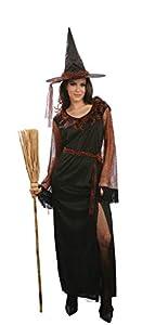 Ciao-Costume Strega delle Tenebre, taglia unica adulto Disfraces, color negro, (62122)