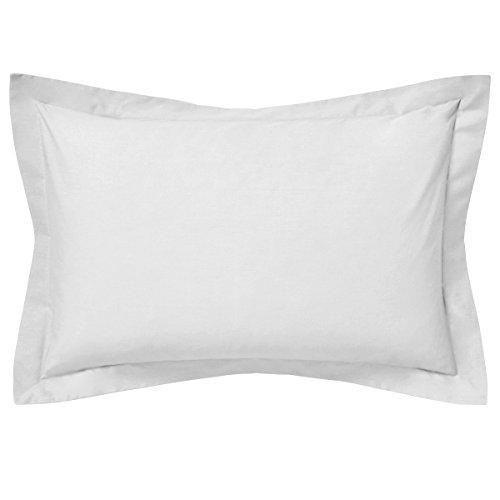 Saffron 100% Baumwolle Rechteck Bett Kissen Fall Flansch Überwurf massiv Bett Dekoratives Kissen Bezug (12x 16Boudoir Kissenbezug, weiß)