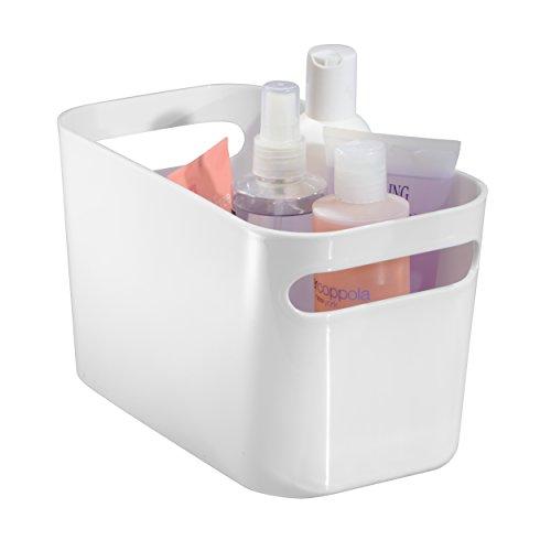 InterDesign Una Organizer, kleine Aufbewahrungsbox aus Kunststoff für Haushalt und Hobby, weiß (Schrank-schublade-storage Box)