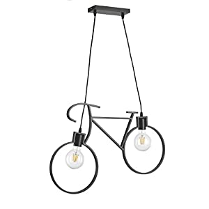 onli Bike lámpara de techo bicicleta, Negro, 67x 44cm