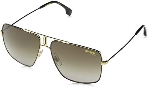 Carrera 1006/S HA 2M2 Gafas de sol, Negro (Black Gold/Brwn Sf), 60 Unisex-Adulto