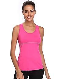 Joyshaper Training Top Damen Quick Dry Kompression Sport Tanktop Sportshirt Trainingsshirt Shirt T Shirt für Yoga und Fitness Running Top Weste Vest