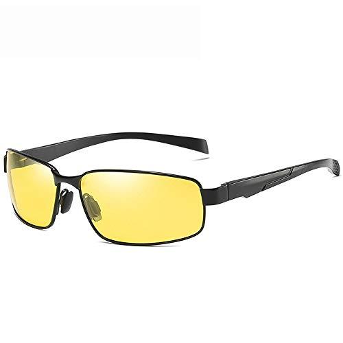 MIAOMIAOWANG Wayfarer Sonnenbrillen Driving Metal Frame Leichte Angeln 100% UV Sport Outdoor Sonnenbrille 100% UV Stil Unisex-Farben (Farbe : Gelb, Größe : Casual Size)