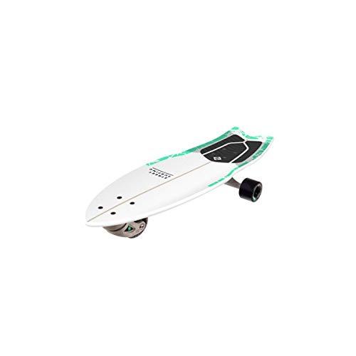 Street Surfen Surfskate Shark Attack Selbstfahrendes Longboard Skateboard, 76,2 cm 22,9 cm. Psycho Green Surf inspiriertes Design, langlebige ABEC 9 Räder.