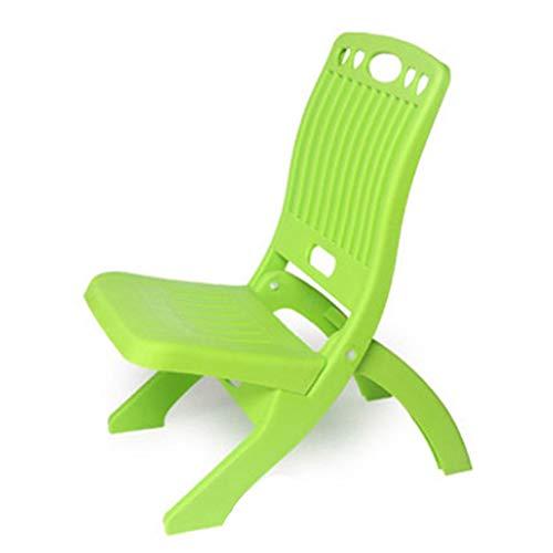 XIAOXIN Falten Plastik-Kids ' Step Chairs Indoor Portable Falten FüR Kinder Und Erwachsene Im Freien Picknick-Bank,Green