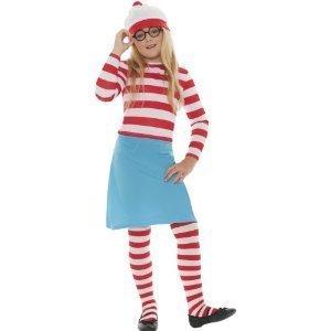 Smiffy's Kinder Offiziell Lizenziert Wo Ist Wally Wenda Maskenkostüm (Für Kostüm Wo Wally Kinder Ist)