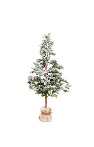 XONE Pinetto innevato in PE Real Touch 180cm | Albero di Natale Artificiale con Base in Juta