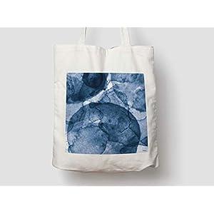 Bluenano/Jutetasche, Baumwolltasche, Einkaufstasche, Jute, Jutebeutel, Tragetasche, Stofftasche, Tasche, Schultertasche, Geschenk, Meer