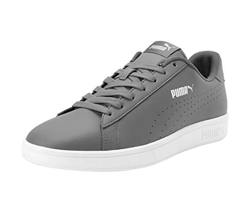 PUMA SMASH V2 Black White Leather Fashion Women And Men Classic Casual Sneaker Size 367308 02 New Release