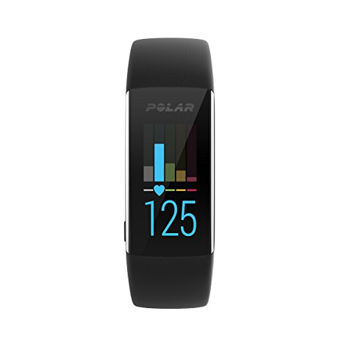 Foto Polar A370, Activity Tracker per Fitness, Monitoraggio attività Fisica con Cardiofrequenzimetro Integrato, Display Touch Screen Unisex-Adulto, Nero, M/L