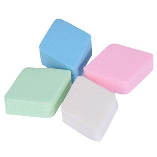 La Houpe A Poudre ,OVERMAL 4PCS Maquillage Sponge mélange poudre lisse Puff Flawless Beauty
