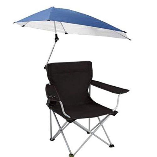 DTTN Sonnenschein Camping Stühle, Außenterrasse, Swimming-Pool-Regenschirm mit abnehmbarem Fußstütze Strand Barbecue Picknick Tragbares Klappstühlen, A -