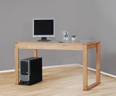 4511 - massiver Schreibtisch in Kernbuche, geölt