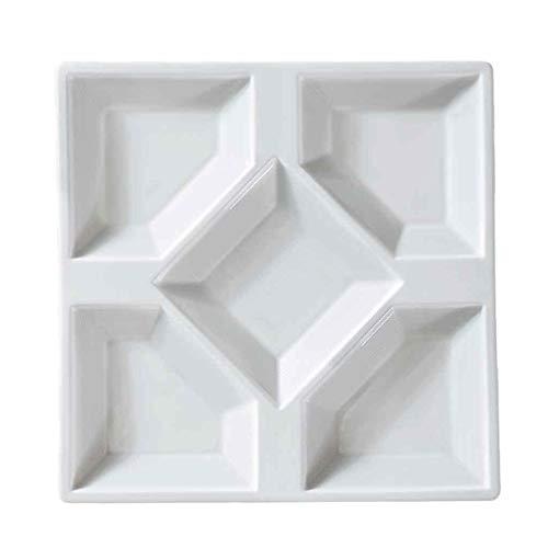Hl-tableware piatti da tavola in porcellana bianca piatti piatti da pranzo quadrati. piatti da cucina