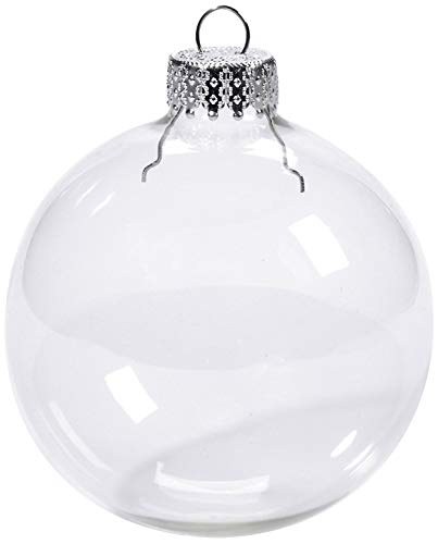 Youseexmas Weihnachtskugel Christbaumkugeln Glaskugel Hängend ,Durchmesser 10cm 4stk (MEHRWEG) -
